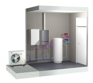 Toplotna črpalka zrak voda 4kW